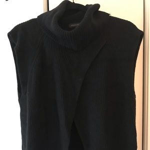 Banana Republic Black sweater with front slit